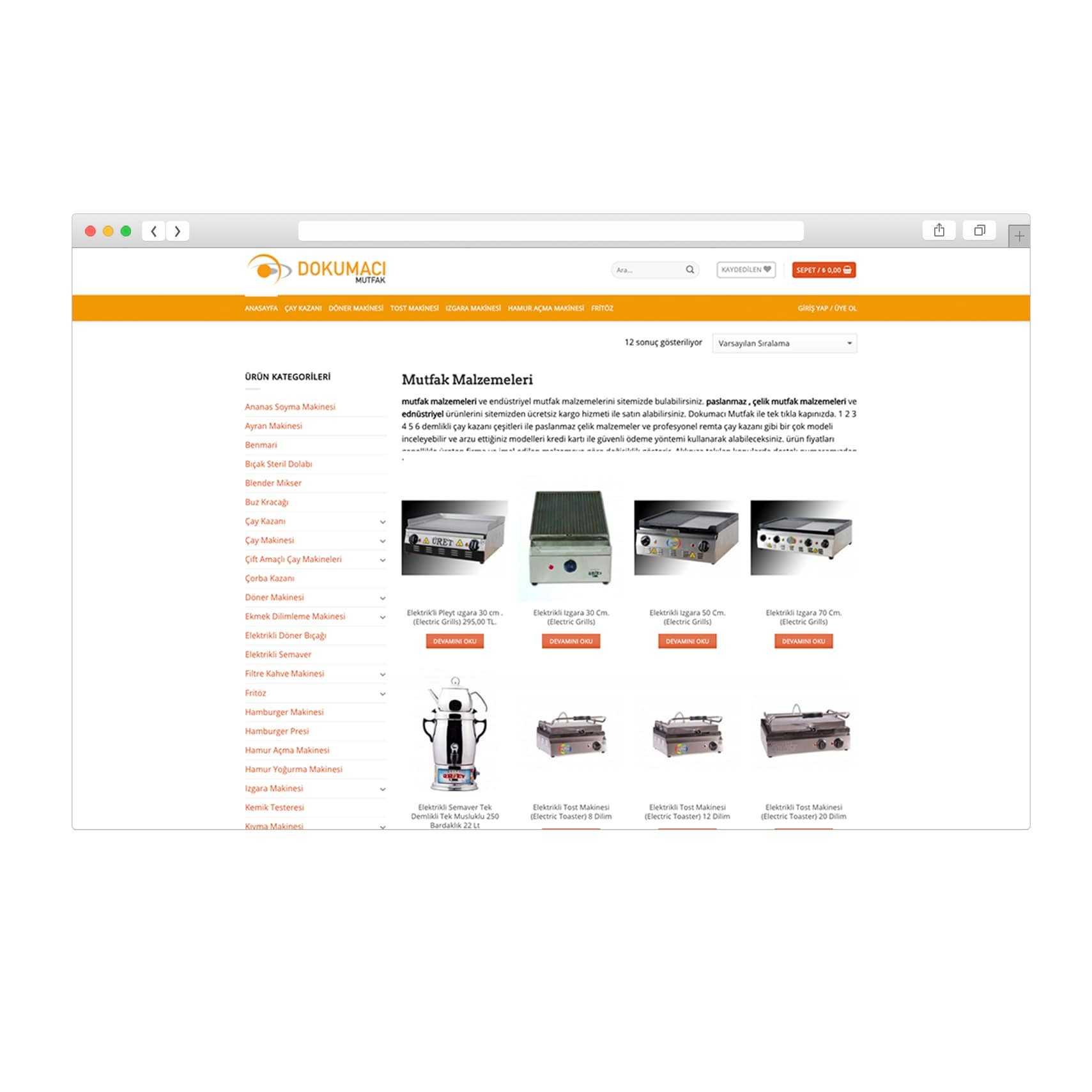 E-Ticaret Sitesi Dokumacimutfak.com.tr