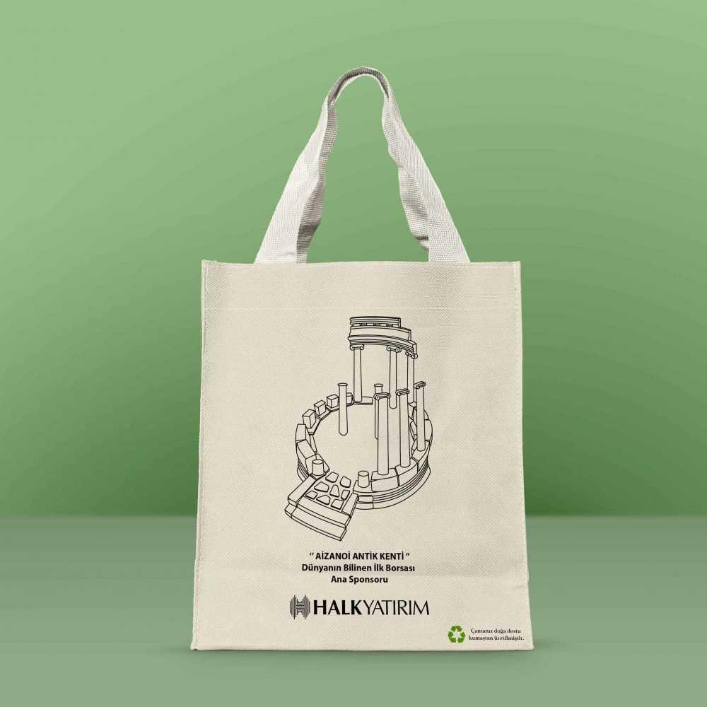 Halk Yatırım Bez Çanta Tasarımı