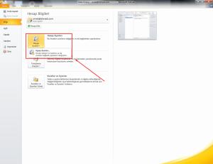 Outlook Mail Kurmak