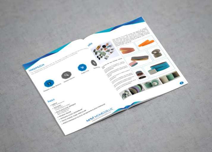 Mavi Mümessillik Katalog Tasarım Örneği