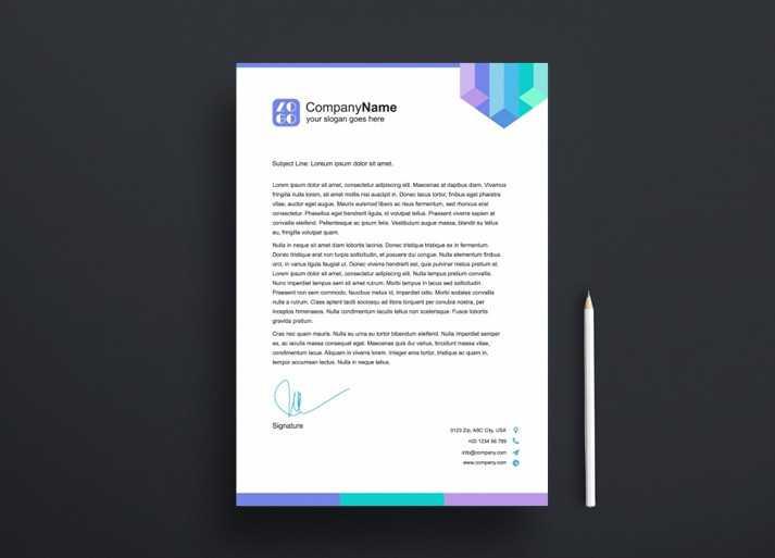 Renkli Antetli Kağıt Tasarım Örneği