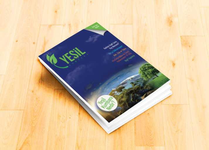 Yeşil Kumbara Dergi Tasarım Örneği