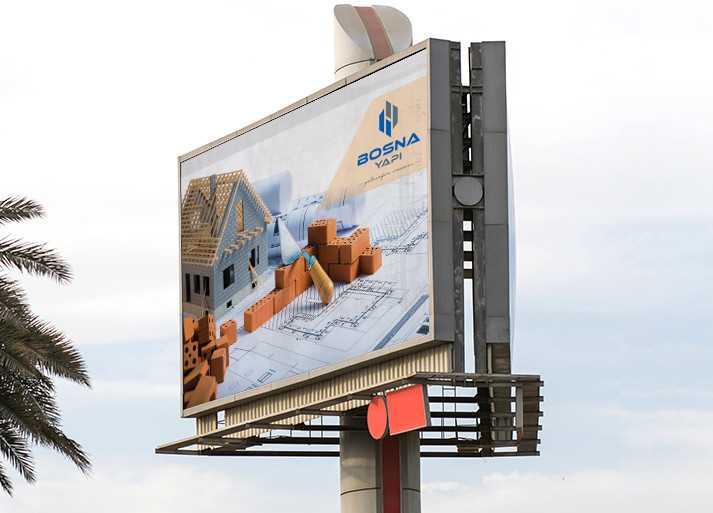 Bosna Yapı Billboard Tasarım Örneği