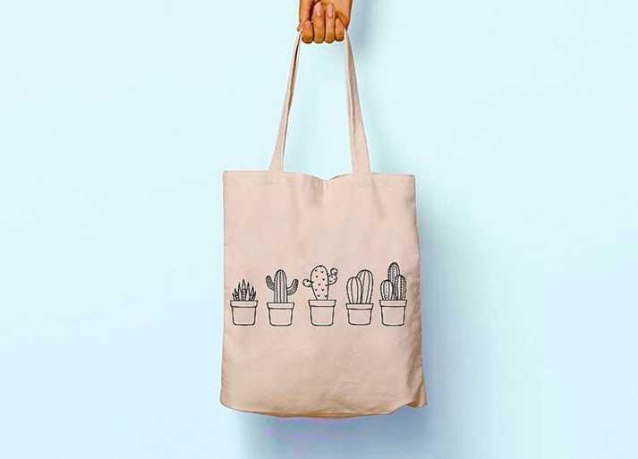 Hambez Baskılı Bez Çanta Tasarımı
